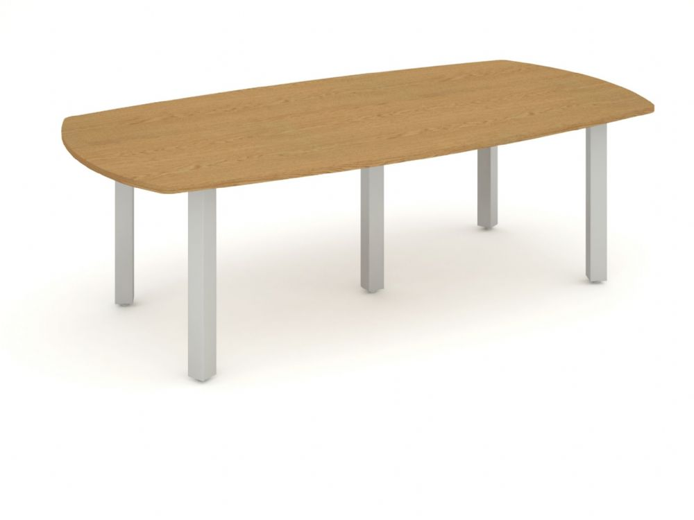 Boardroom Table 2400mm. Available in Beech, Maple, Oak, Light Walnut & White Finish
